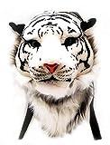 WYCY Bolsa de Escuela Tiger Head Mochila de Felpa de simulación de dominación 3D para la Personalidad (Blanco, pequeña)