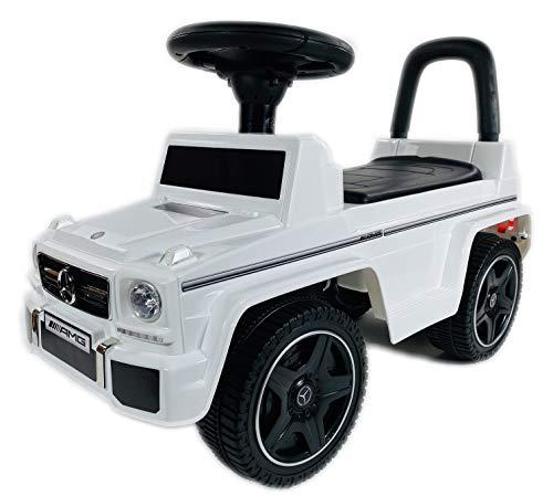 BUSDUGA Mercedes Benz G63 Rutscher, Kinderfahrzeug mit Kippschutz ( ab 18 Monate ) - wählen Sie ihre Farbe (Weiss)