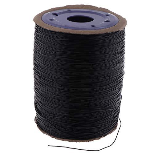 joyMerit Hilos Elásticos Elásticos de 1.0 Mm Que Rebordean El Cordón de La Secuencia para La Joyería Que Hace Negro - Negro 650M, Individual