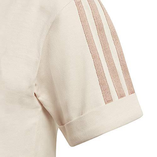 adidas Cropped T-Shirt, Lino, 40 Womens