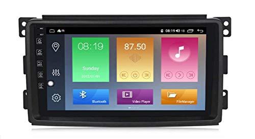 LYHY Android Car Stereo Radio Double DIN Sat Nav Compatible con Benz Smart 2006-2009 Navegación GPS Pantalla táctil de 9 Pulgadas Reproductor Multimedia Receptor de Video con cámara Trasera