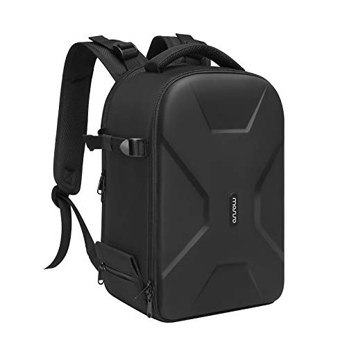 MOSISO Camera Backpack, DSLR/SLR/Mirrorless Insert Protection Photography Camera Bag Full Open Waterproof Hardshell Case with Tripod Holder&Laptop Compartment Compatible with Canon/Nikon/Sony, Black