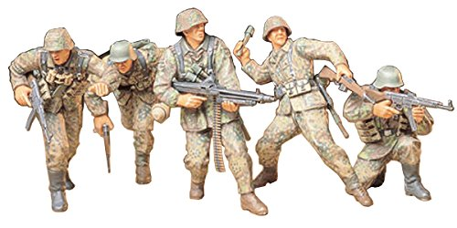TAMIYA 35196 1:35 Fig.-Set Deutsche Frontsoldaten (5), Modellbausatz,Plastikbausatz, Bausatz zum Zusammenbauen, detaillierte Nachbildung