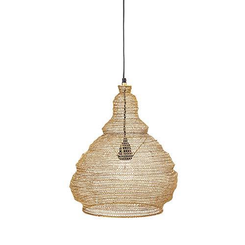 Bloomingville - Rio - hanglamp, plafondlamp, lamp - van metaal gevlochten - (ØxH): 38 x 40 cm