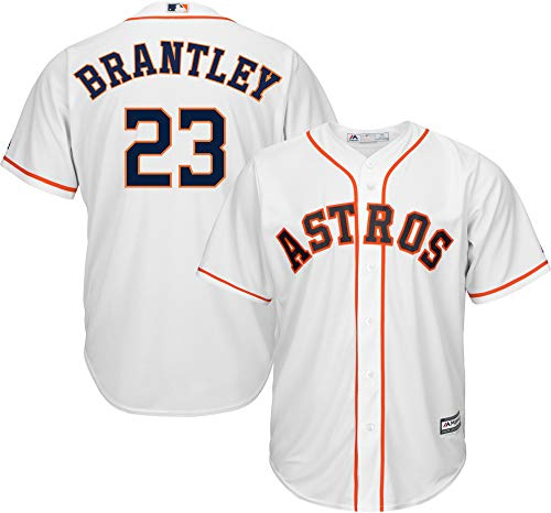 Michael Brantley Houston Astros MLB Boys Youth 8-20 Player Jersey (White Home, Youth X-Large 18-20)