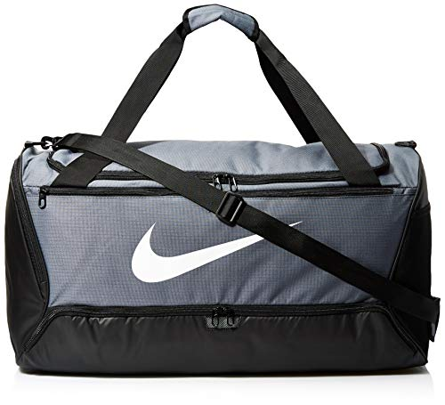 NIKE Brasilia Large Duffel - 9.0, Flint Grey/Black/White, Misc