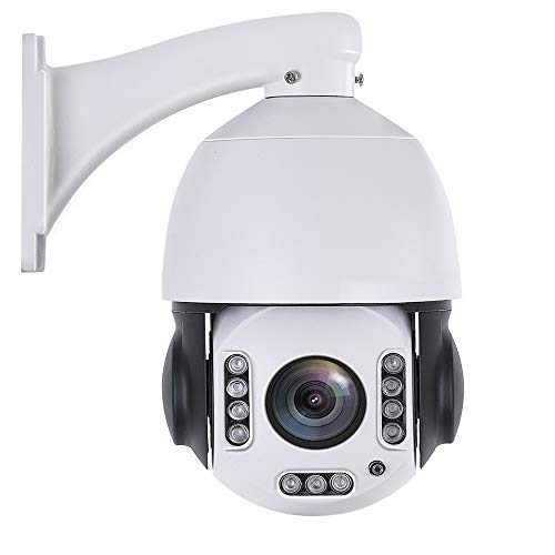 Outdoor 20X PTZ POE+ Security Camera 4.5' WiFi Wireless 5MP/2MP Home Surveillance Outdoor Camera Pan 360° Tilt 95° 2 Way Audio Humanoid Auto Tracking Dome Camera with 64GB SD Card Phone APP to View
