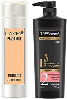 Lakmé Peach Milk Moisturizer Body Lotion 200 ml & TRESemme Beauty Volume Shampoo, 580ml