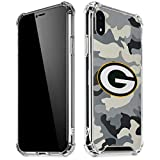 Skinit Clear Phone Case Compatible with iPhone XR - Officially Licensed NFL Green Bay Packers Camo Design