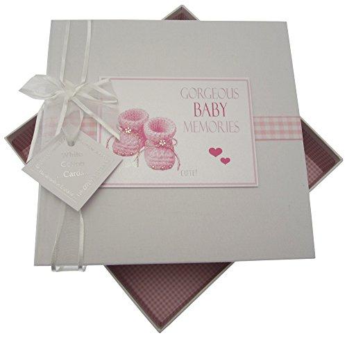 White Cotton Cards Gorgeous Baby Mémoires Album Photo, Medium, Rose Chaussons