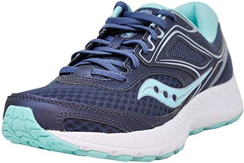 Saucony Women's VERSAFOAM Cohesion 12 Road Running Shoe, Black/Mint 10 M US