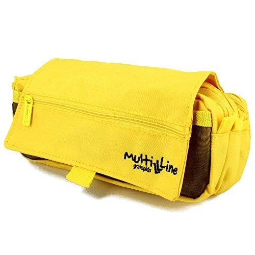 Grafoplás 37540360-Estuche escolar triple Multiline color amarillo