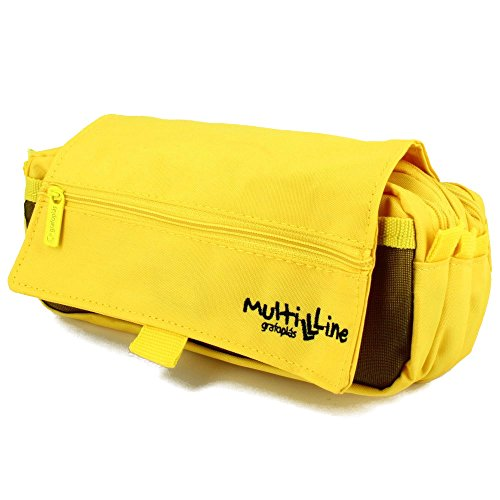 Grafoplás 37540360-Estuche escolar triple Multiline color amarillo