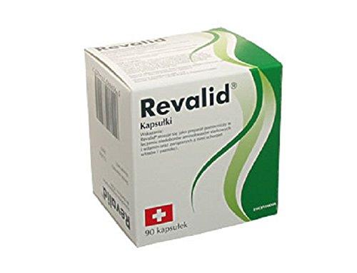 REVALID Haarausfall-Kapseln 90 Stück Nahrungsergänzungsmittel mit Aminosäuren, Vitaminen und Spurenelementen. Zum Stärken der Struktur von Haaren und Nägeln.