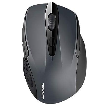 TECKNET Ratón Inalámbrico Bluetooth, Pro Wireless Mouse con Indicador de Batería, 5 Niveles dpi, 2600/2000/1600/1200/800 dpi, Óptico, 5 Botones, 24 Meses Duración de Batería