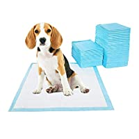 SUPER ABSORBENT & BRILLIANT LEAK-PROOF: Effectively help you train your pets without messing around your floor or carpets. 100% leak free with durable waterproof plastic layer makes home clean up far easier. QUICK DRYING & CLEAN AND FRESH: This dog ...