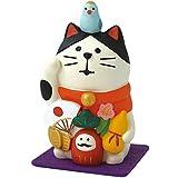 デコレ(DECOLE) 万福まねき猫 (フェルトマット付き) 白猫 34×30×h57mm concombre ZCB-92701