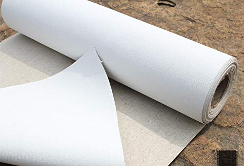 Rollo de tela virgen para pintura mezcla de lino, longitud: 5 m, algodón 78 cm ancho