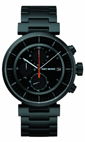 Issey Miyake SILAY002 - Orologio da polso, unisex, acciaio inox, colore: nero