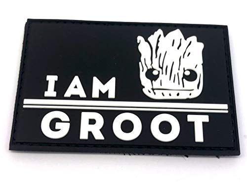 Patch Nation I Am Groot PVC Airsoft Paintball Klett Moral Flicken (Leuchten im Dunkeln)