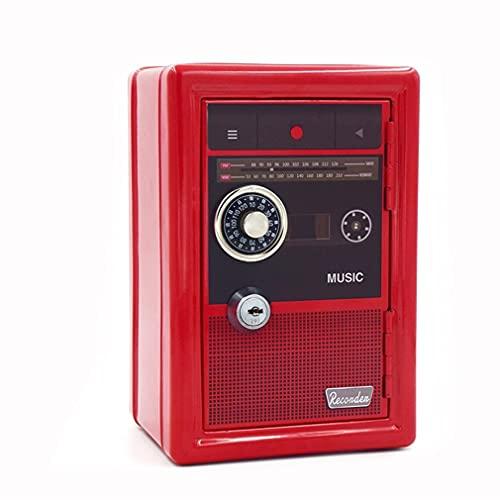 zhengyang Caja de dinero Durable ATM Contraseña Moneda Hucha Vintage Mini Banco Automático Depósito de Dinero Caja de Ahorro de Dinero Organizador Cajas Caja Secreta Caja de Caja de Dinero