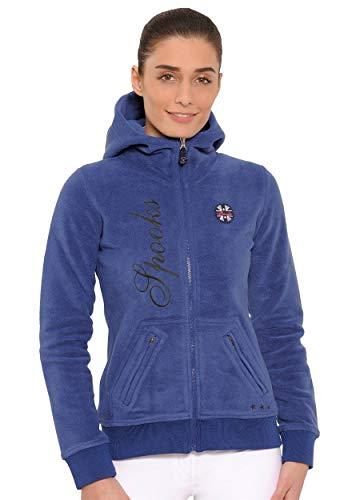 SPOOKS Damen Flisjacke Fleecejacke, leichte Damenjacke mit Kapuze, Herbstjacke - Lesley Fleece Blue L