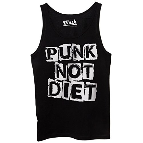 MUSH Canotta Punk Not Diet - Music by Dress Your Style - Donna-S-Nera