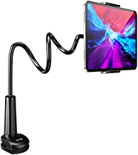 Tryone Gooseneck Tablet Stand, Tablet Mount Holder for iPad iPhone Series/Nintendo Switch/Samsung Galaxy Tabs/Amazon Kindle Fire HD and More, 30in Overall Length(Black)