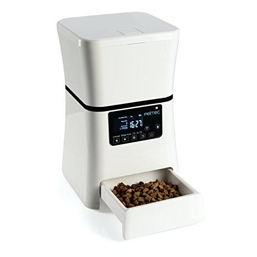 PetTec Futterautomat mit Timer | 2,5 KG/5L Trockenfutter | für Hund & Katze | Programmierbarer Futterspender | LCD Bildschirm | BPA frei | Pet Feeder