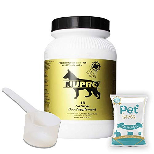 All Natural Dog Supplement Gold 5lb with 10ct Pet Wipes