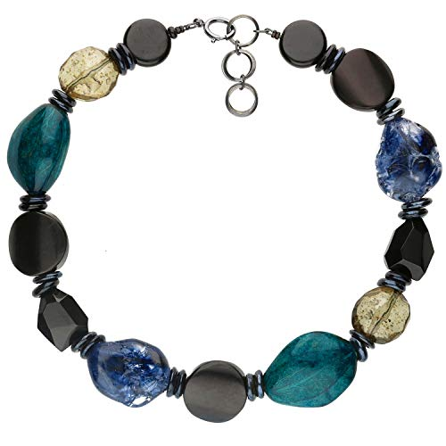 langani Halskette Marusa Damen-Kette schwarzen Perle Handmade Since 1952