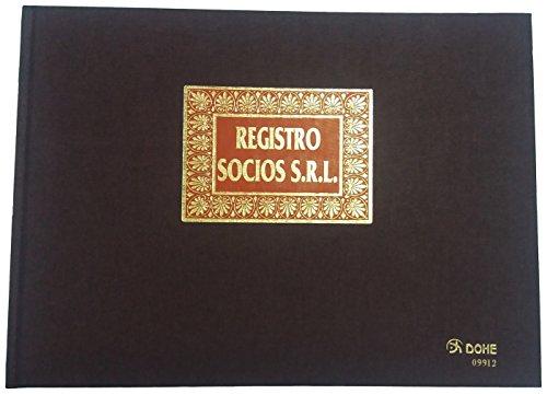 Dohe 9912 - Libro registro, registro de socios S.R.L., folio apaisado