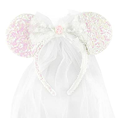 Disney Minnie Mouse Ear Headband - Bride