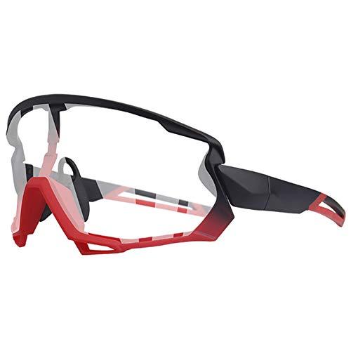 Gafas Sol Fotocromáticas Lentes con 5 Lentes Protección UV400 Ultraligero para Ciclismo Running Deportes Al Aire Libre para Hombre Y Mujer,2