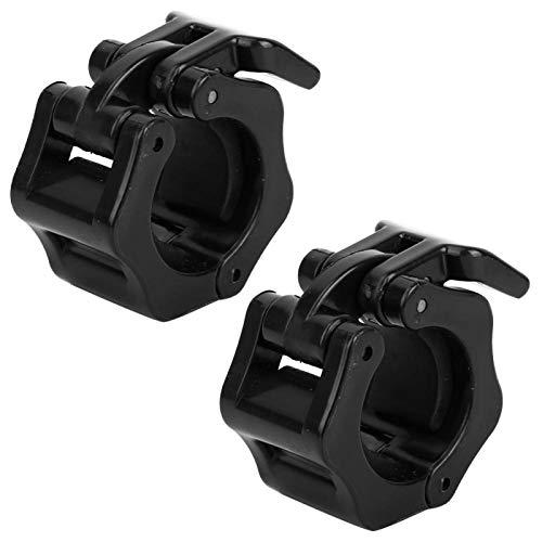 Abrazadera de bloqueo de mancuernas de 25 mm, abrazadera de bloqueo de mancuernas de plástico, para levantamiento de pesas, pesas y musculación (25 mm)
