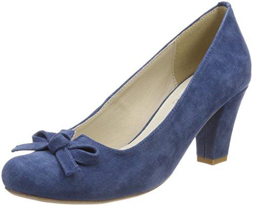 HIRSCHKOGEL Damen 3005701 Pumps, Blau (Jeans), 37 EU