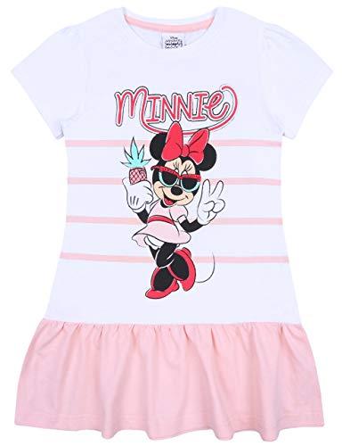 sarcia.eu Letnia biała i brzoskwiniowa sukienka z krótkim rękawem myszka Minnie