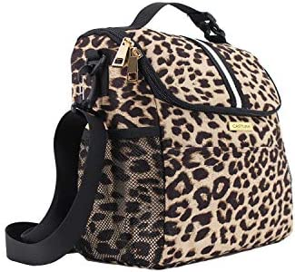Women Insulated Lunch Bag Large Lunch Tote Bag with Detachable Shoulder Strap and Buckle Handle product image