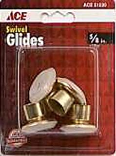 Brass Plated Swivel Glide Caps Ace Protective Pads 51230 Brass 082901512301