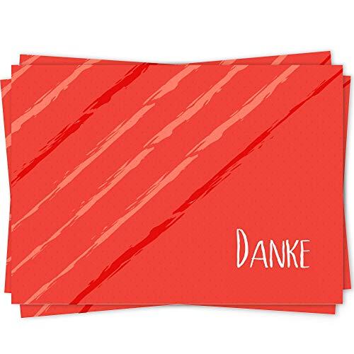 10 Dankeskarten Set, Dankeskarte, Karte Danke, Postkarte Danke, Dankeschön Karten, Thank you cards, Dankeskarten Hochzeit, Danke Karten DIN A6 - Geo9