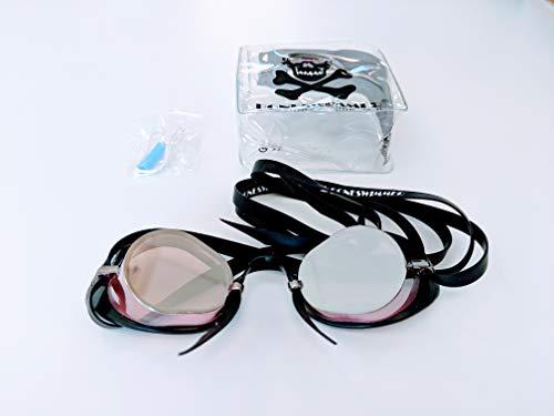 Boneswimmer - Gafas suecas Espejo Borde Goma, Rosa