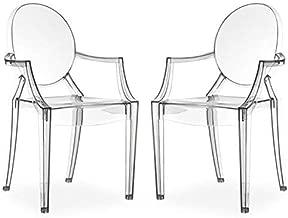 chair4you Set di 4/Chiaro Sedie Ispirato Ghost Victoria Sala da Pranzo Trasparente Moderno