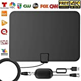 High Definition TV Antenna 50 60 Miles Range- Support 4K 1080p for TVs - Indoor Amplifier Signal Booster - 15ft Coax HDTV Cable/Adapter
