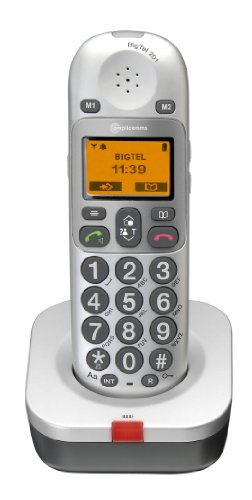Amplicomms BigTel 201 DECT Erweiterungs-Set (zusätzliches Mobilteil), für die BigTel-Serie