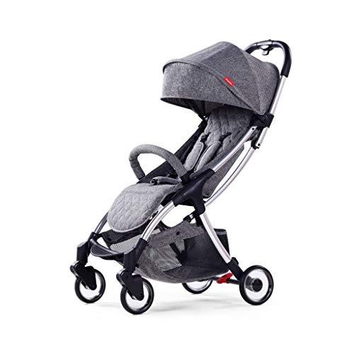 Yxyxml Baby Carriage, Baby kinderwagen met één hand, tweede hand, instappen Baby kinderwagen, ontspannen licht en handig