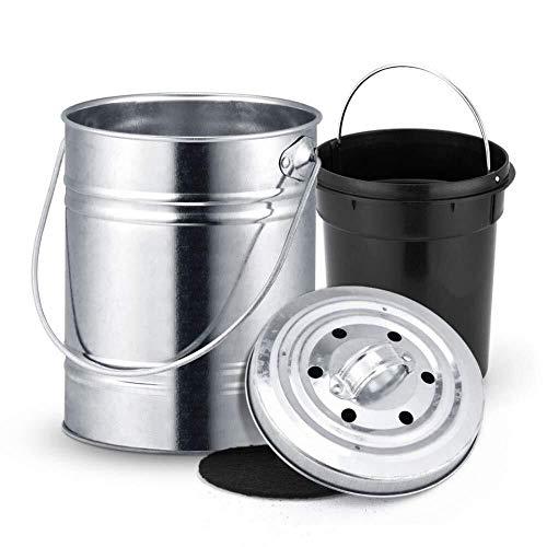 Automatische vuilnisbak 3L Roestvrij Staal Automatische vuilnisbak Deodorant Mini Emmer met Deksel Compost Bin Counter Top Afvalbak Keuken Garbage Opslag Emmer Huishoudelijke decoratieve opslag emmer