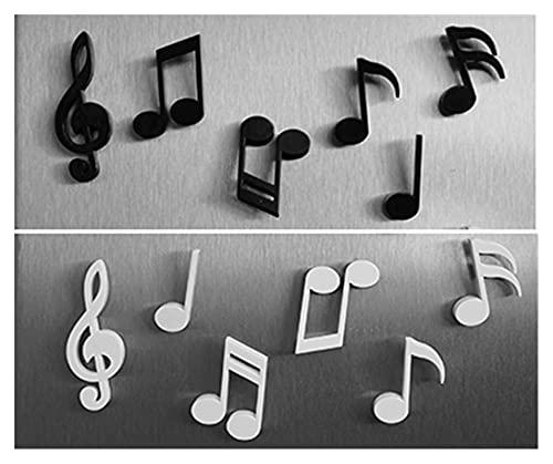 YTNGYTNG Iman de Refrigerador 6 unids/Set imanes de refrigerador Notas Musicales Creativas imán de refrigerador Mensaje Etiqueta decoración para el hogar Accesorios de Cocina Juguete Educativo