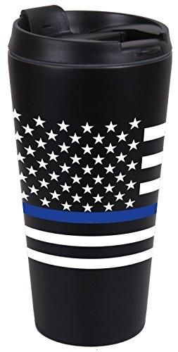 Rothco Thin Blue Line Flag Travel Mug