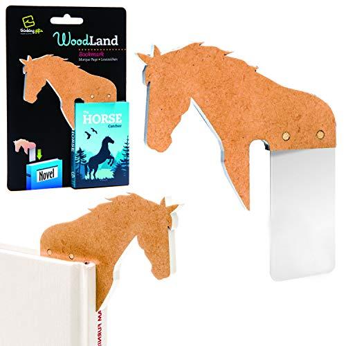 Woodland Bookmarks Nieuw Leuk Houten Dier Pagina Houder Boek Liefhebber Lees Geschenk Paard