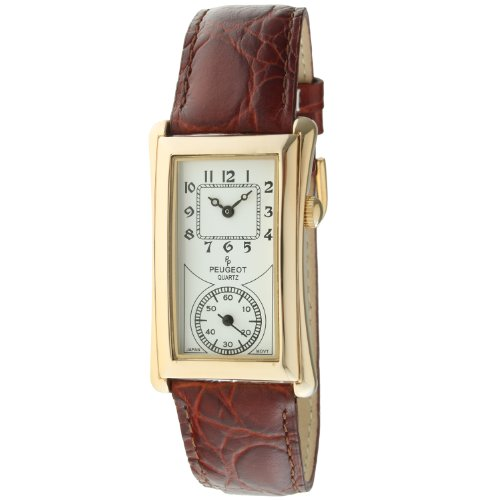 Peugeot Vintage Contoured Doctors Style Watch with Leather Band